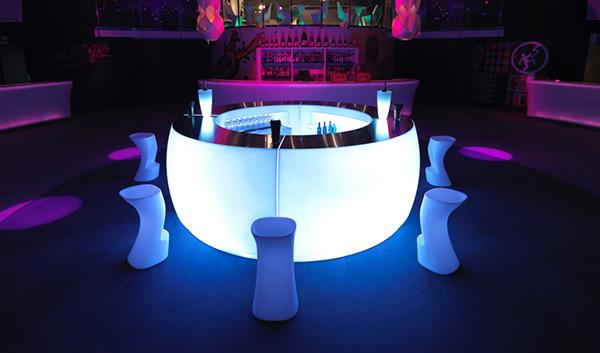 verlichting in bar